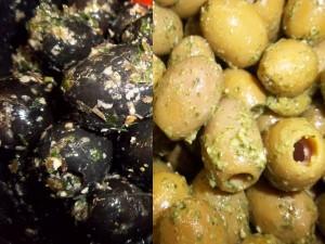 Der Unterschied zwischen schwarzen und grünen Oliven