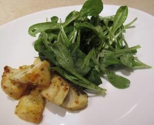 Ein gesundes Skrei Rezept mit frischem Feldsalat