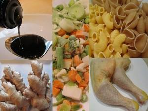Rezept Zutaten einer gesunden Hühnersuppe gegen Erkältungskrankheiten