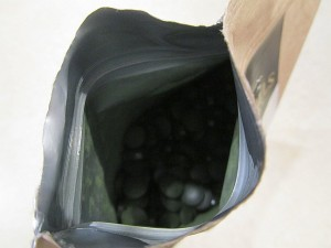 Spirulina Bio Algen Test Verschluss und Verpackung